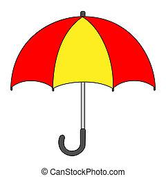 Umbrella Cartoon Drawing - Illustration of Isolated Umbrella...
