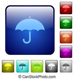 Umbrella color square buttons