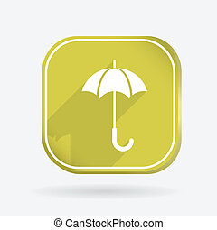 umbrella. Color square icon