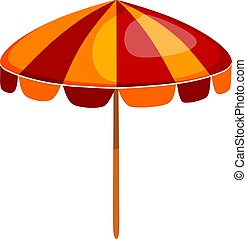 umbrella., colorer image, illustration, dessin animé, résumé, clair, vecteur, accessory., plage, style.