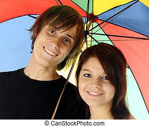 Umbrella Couple