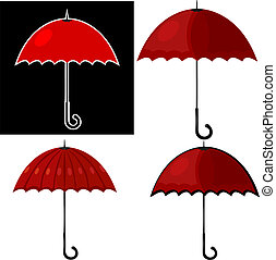 umbrella., eps10, rouges, illustration