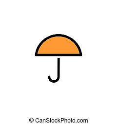umbrella flat Icon vector, eps 10