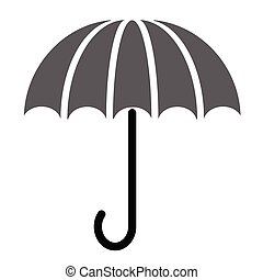 Umbrella flat illustration on white