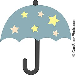 Umbrella flat illustration on white