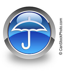 Umbrella glossy icon