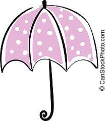 Umbrella hand drawn design, illustration, vector on white background.