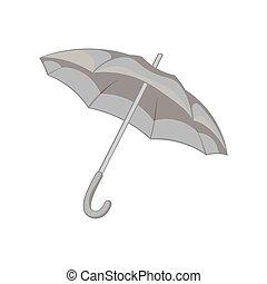 Umbrella icon, black monochrome style