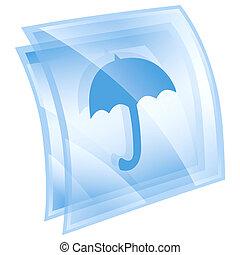 Umbrella icon blue, isolated on white background