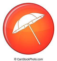 Umbrella icon, flat style