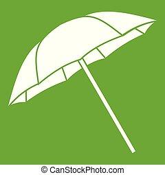 Umbrella icon green