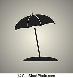 umbrella icon in flat design