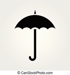 Umbrella icon isolated on white background. Vector illustration.