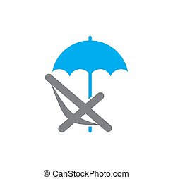 Umbrella icon on background for graphic and web design. Simple illustration. Internet concept symbol for website button or mobile app.
