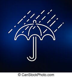 Umbrella icon on blue background