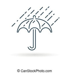 Umbrella icon on white background