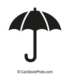 Umbrella icon on white background.
