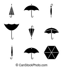 Umbrella icon set