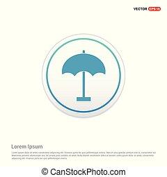Umbrella Icon - white circle button
