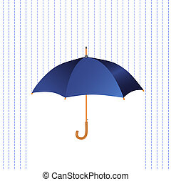 Umbrella icon with rain