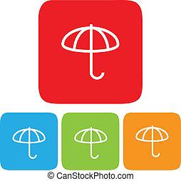 Umbrella icons, Vector illustration
