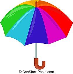 Umbrella, illustration, vector on white background.
