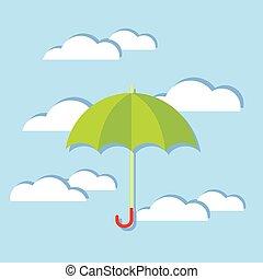 Umbrella In The Clouds.