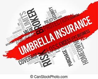 Umbrella Insurance word cloud collage