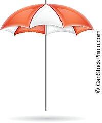Umbrella isolated on white. EPS10 vector