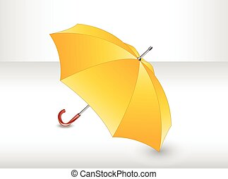 umbrella., jaune