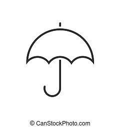Umbrella line icon on a white background