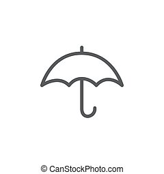 Umbrella Line Icon on white background