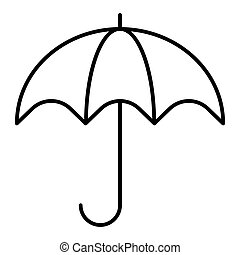 Umbrella line icon. Umbrella vector icon isolated on white. Flat outline design. Eps 10