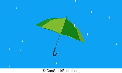 Umbrella on a blue background