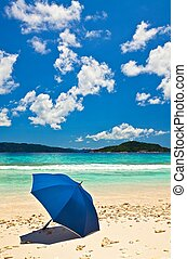 Umbrella on a sandy beach