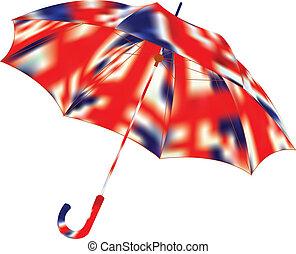 Umbrella on a white background. Vector illustration.