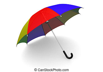 Umbrella on the ground - Colorful umbrella on the ground