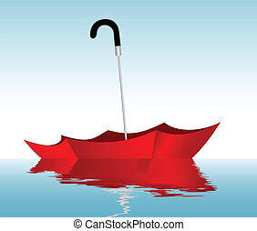 Umbrella on the water