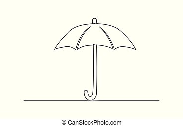 Umbrella One line drawing