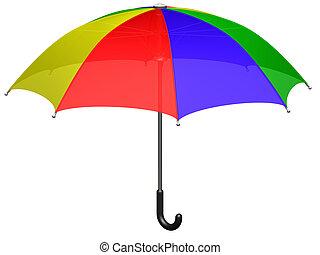 Open colored umbrella (3d render)