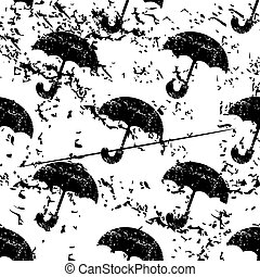Umbrella pattern, grunge, monochrome