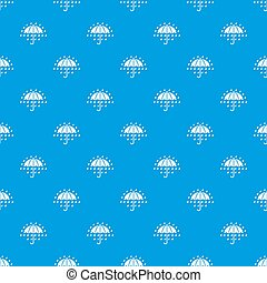 Umbrella pattern seamless blue