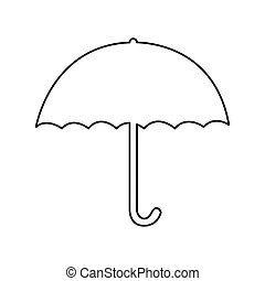 umbrella pictogram icon image