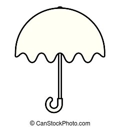 umbrella protection rain icon