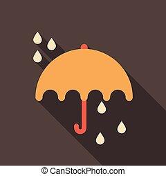Umbrella rain icon on the background. Vector illustration