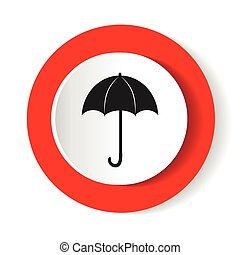 umbrella red Icon vector flat design.