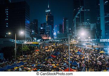 Umbrella Revolution in Hong Kong 2014