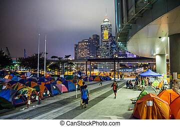 Umbrella Revolution in Hong Kong 2014