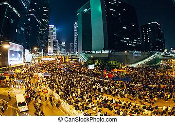 Umbrella Revolution in Hong Kong - HONG KONG, OCT 10:...