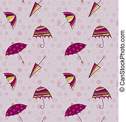 Umbrella seamless vector background